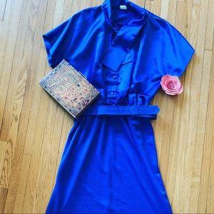 Sleeping Beauty inspired Blue Satin dress